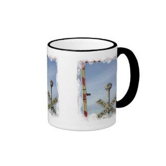 Travesía y barrera taza de café