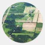 Travesías de las tierras de labrantío etiqueta