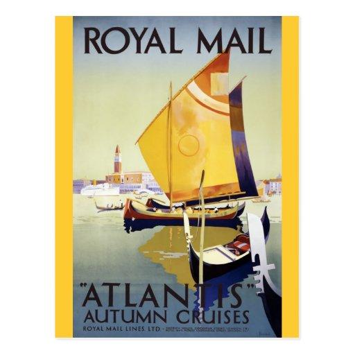 """Travesías del otoño de Royal Mail la """"Atlántida"""" Tarjetas Postales"""