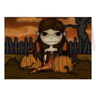 Travesura del otoño tarjeta de felicitación