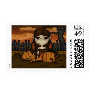 Travesura del otoño timbre postal