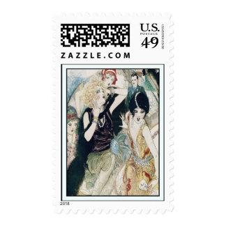 Travesura y mutilación retras del vintage sellos