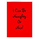 Travieso o Niza - vertical de la tarjeta de felici