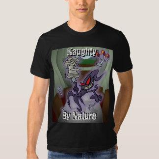 Travieso por la camiseta de la naturaleza playeras