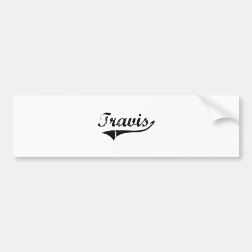Travis Classic Style Name Bumper Sticker