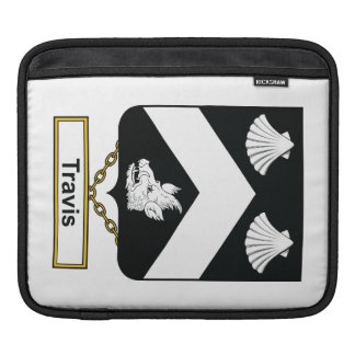Travis Family Crest iPad Sleeves