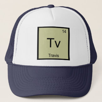 Travis Name Chemistry Element Periodic Table Trucker Hat