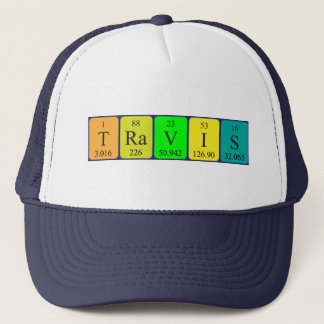 Travis periodic table name hat