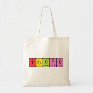 Travis periodic table name tote bag