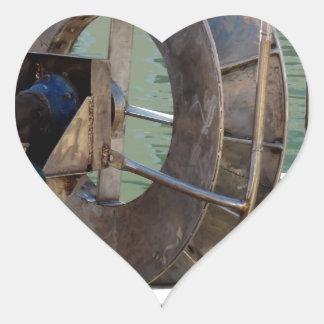 Trawl winch heart sticker