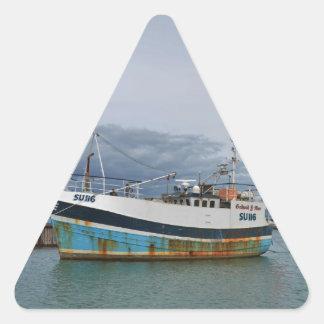 Trawler Galwad-Y-Mor Triangle Sticker