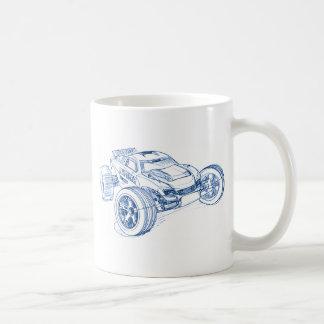 trax rustler classic white coffee mug