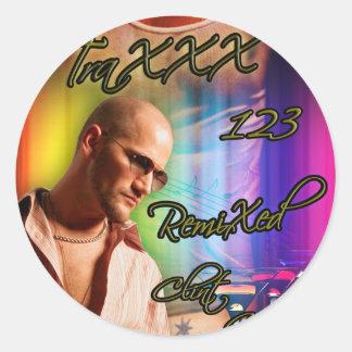 TraXXX 123 Remixed Classic Round Sticker