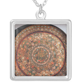 Tray from the Michoacan tribe Silver Plated Necklace