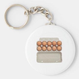 Tray of eggs keychain