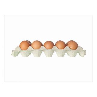 Tray of eggs postcard
