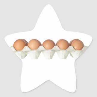 Tray of eggs star sticker