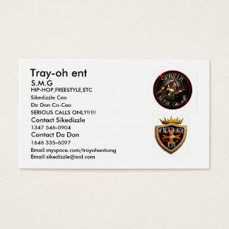 tray-oh logo1, spartamusicgroup2, Tray-oh ent, ... Business Card