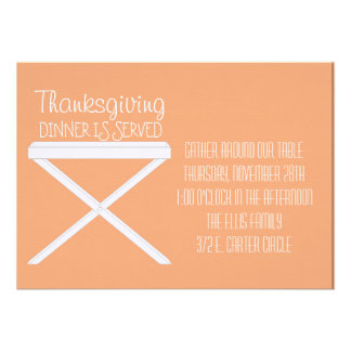 Tray Stand in Peach Personalized Announcement