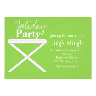 Tray Table in Green Custom Invite