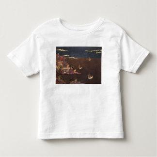 Tray with marine scene shirt