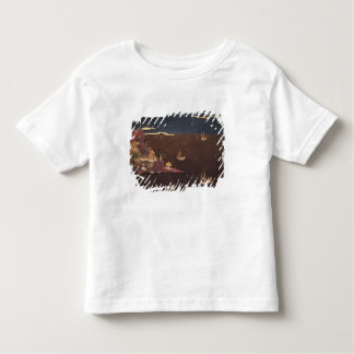 Tray with marine scene t shirt
