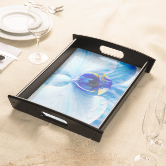 Tray with orchid image