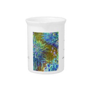 Trayectoria a través de los iris Claude Monet Jarron