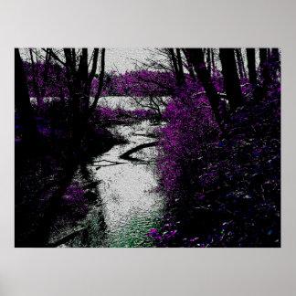 Trayectoria al río impresiones