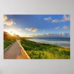 Trayectoria al sol. Playa de Oneloa. Maui Poster