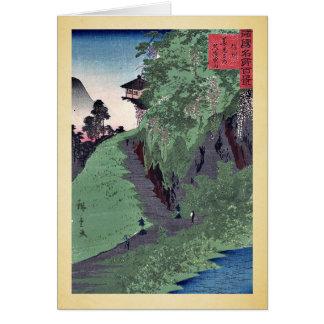Trayectoria al templo de Zenkoji por Utagawa, Hiro Tarjeta De Felicitación