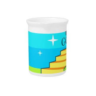 Trayectoria al vector de dios jarra para bebida