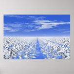Trayectoria ciánica del hielo #30-01: Campo de nie Impresiones