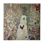 Trayectoria con los pollos, Klimt, arte Nouveau Azulejos Ceramicos
