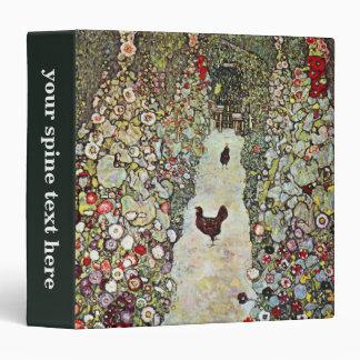 """Trayectoria con los pollos, Klimt, arte Nouveau Carpeta 1 1/2"""""""