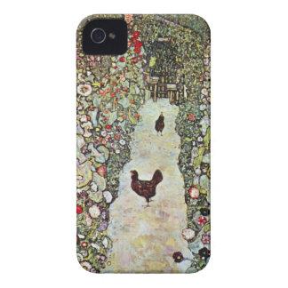 Trayectoria con los pollos, Klimt, arte Nouveau Case-Mate iPhone 4 Carcasa