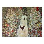 Trayectoria con los pollos, Klimt, arte Nouveau de Tarjeta Postal