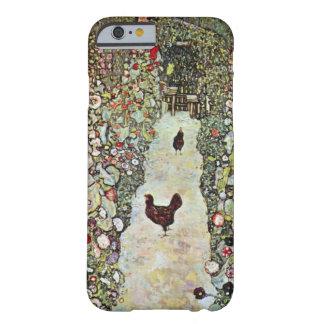 Trayectoria con los pollos, Klimt, arte Nouveau Funda De iPhone 6 Barely There