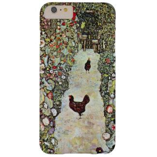 Trayectoria con los pollos, Klimt, arte Nouveau Funda Para iPhone 6 Plus Barely There