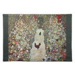 Trayectoria con los pollos, Klimt, arte Nouveau Manteles