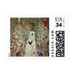 Trayectoria con los pollos, Klimt, arte Nouveau Sello