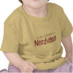 Trayectoria de 42 dobleces a Nerdvana (rosa) Camisetas