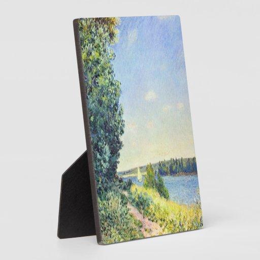 Trayectoria de Alfred Sisley - de Normandía en el  Placa De Plastico