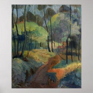 Trayectoria de bosque, 1920 póster