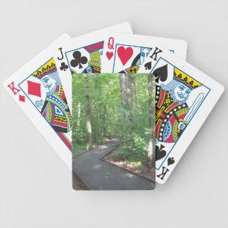 trayectoria de bosque 2 barajas de cartas