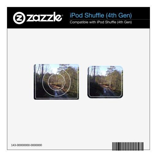 Trayectoria de bosque calcomanía para iPod shuffle