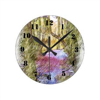 Trayectoria de bosque relojes