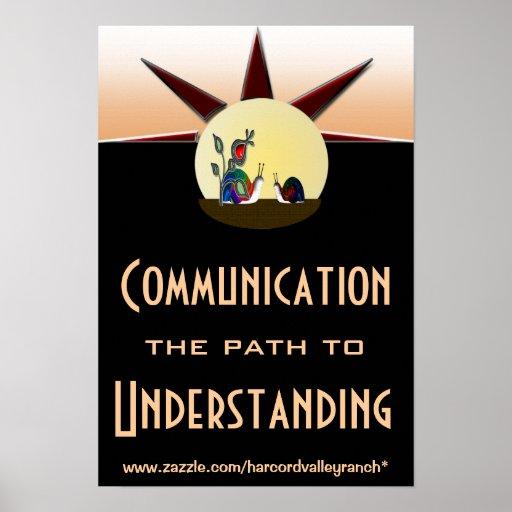Trayectoria de comunicación a la comprensión impresiones