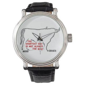 Trayectoria de la forma de Bull de Madrid a Reloj De Mano