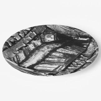 Trayectoria de la pesadilla plato de papel de 9 pulgadas